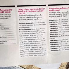 Jeej! Happy to be on this list - #jongtalent thank you @eigenhuiseninterieur !