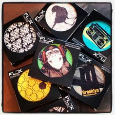 FLOX coasters made from 100% recycled rubber at Green in BKLYN