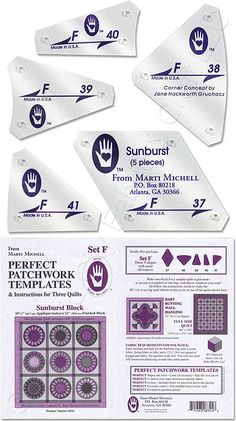 Perfect Patchwork Template : 8951Set H #id15138 | PATCHWORK ... : quilting paper templates - Adamdwight.com