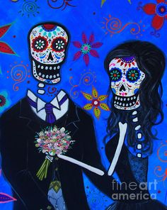 wedding, matrimony, FRIDA, FRIDA KAHLO, DAY OF THE DEAD, DIA DE LOS MUERTOS, SKULL, SKELETON, FOLK ART, MEXICAN, MEXICAN PAINTINGS, DOG PAINTINGS, FLORALS, FLOWERS, WHIMSICAL, PRISTINE CARTERA-TURKUS, PRISARTS, OUTSIDER ART, BRUT ART, FLORALS, CAT, GATO, EL GATO, HELLO KITTY, PUSA, MEOW, black, dress, scottish, swedish, irish