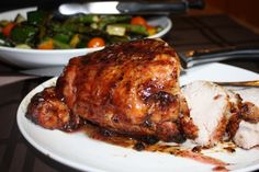Cranberry Glazed BBQ Turkey Breast I'm trying this on chicken breasts!
