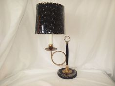 Vintage French Horn or Trumpet Lamp with by MyRetroRecollections