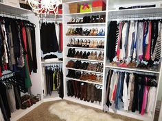 Resultado de imagem para small walk in closet with dimensions