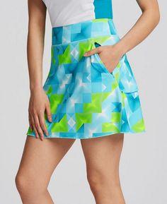 "Annika Ladies & Plus Size Shine Print 17"" Outseam Pull On Golf Skorts - Multi"