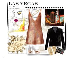 """""""Las Vegas Travel Outfit II"""" by ladygroovenyc ❤ liked on Polyvore featuring Jet Set Candy, Ashish, Janessa Leone, Kurt Geiger, Blazé Milano, Allurez, Gucci and Yves Saint Laurent"""