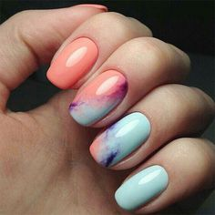 35 Amazing Ombre Nails that You Must Try | LOVIKA #peach #bright