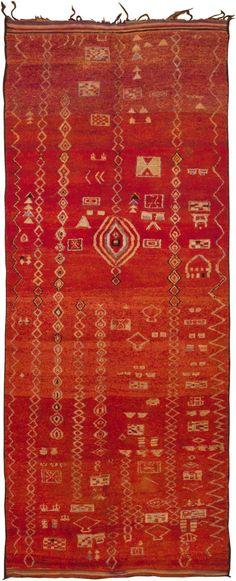 Vintage Moroccan Rug #45742 http://nazmiyalantiquerugs.com/antique-rugs/moroccan-rugs-vintage-carpets/