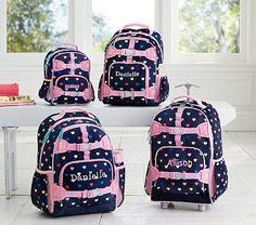 Mackenzie Navy Multicolor Heart Backpack #pbkids
