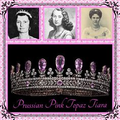 bb74dee551 3rd October and today s tiara is the Prussian Pink Topaz tiara. Made at the  beginning