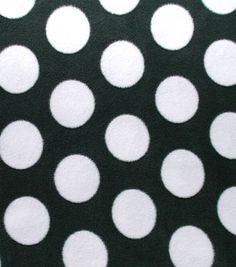 Anti-Pill Fleece Fabric- Green And White Dots
