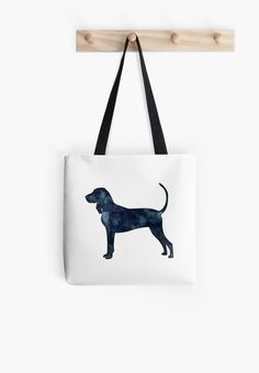 Black and Tan Coonhound Black Watercolor Silhouette by TriPodDogDesign