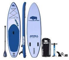 Atoll Foot Inflatable Stand up Paddle Board, Inches Thick, 32 inches wide) ISUP, Bravo Hand Pump and 3 Piece Paddle, Travel Backpack : Sports & Outdoors Best Inflatable Paddle Board, Inflatable Sup, Best Paddle Boards, Best Stand Up, Standup Paddle Board, Sup Surf, Paddle Boarding, Large Bags, Travel Backpack