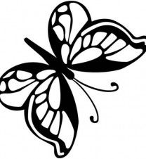 Black Butterfly Printable Coloring Pages