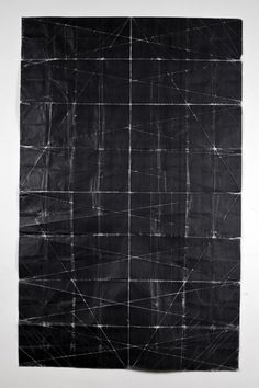 Niall McClelland //   Tapestry - Beaten (2010)  toner on paper, folded