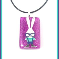 Nerdy Bunny Charmer Necklace from Peanut Butter n Jewels for $5 on Square Market Come check out our other great items: facebook.com/pbnjewels instagram.com/pbnjewels twitter.com/pbnjewels