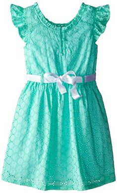 Tommy Girl Big Girls' Sleeveless Eyelet Dress, Light Teal, Large Tommy Girl http://www.amazon.com/dp/B00QFPI678/ref=cm_sw_r_pi_dp_boBfvb1WCQ7AJ