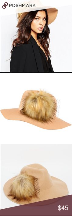 Rivers Island Fedora with Fur Very cute statement hat. Offers welcome. River Island Accessories Hats