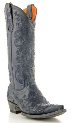 Womens Old Gringo Lori Luna Boots Blue Jean #L954-4