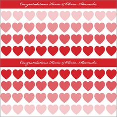 Hearts White Personalized Love Gift Wrap