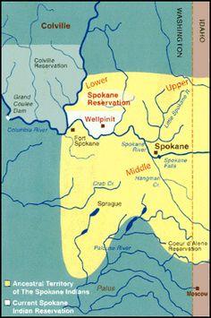 Spokane Indian Reservation | Spokane Tribe:  ancestral territory