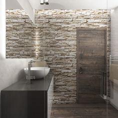 Přírodní koupelna STONE - Pohled ze sprchového koutu