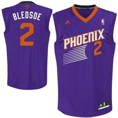 adidas Eric Bledsoe Phoenix Suns 2013 New Logo Revolution 30 Road Replica Jersey - Purple