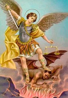 Saint Michael the Arch Angel. Patron saint of law enforcement and soldiers. Saint Michael, St. Michael, Michael Gabriel, Catholic Saints, Patron Saints, Archangel Prayers, Angels Among Us, Prayer Cards, Virgin Mary