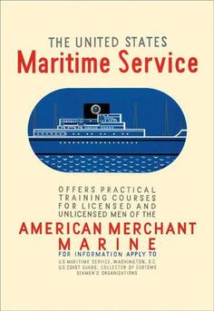 The United States Maritime Service 12x18 Giclee on canvas