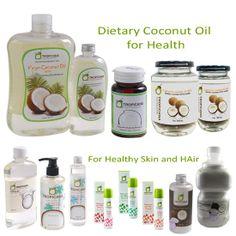 TROPICANA Cold press virgin coconut oil 100% Natural Health, Natural Foods, Agar Agar, Of Brand, Healthy Skin, Packaging Design, Coconut Oil, Vitamins, Cold