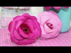 DIY - Flor de Papel - Como Fazer - Paper Flower - Segredos de Aline - YouTube