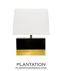 Lars Short Lamp   Black  on PLANTATION website