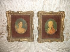 Antique victorian lady and man portrait pictures by FabulousFinds1, $44.50