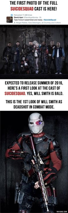 First look at the Suicide Squad dropped today! What do you think?!