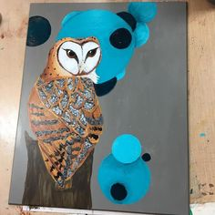 Barn #owl #artwork for a journal and other goodies is done. Now to work on some new #magnet designs. #art #sundayinthestudio #owls #owlsofinstagram #journal