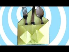 How to make #simple #origami #table #decoration #video #instruction