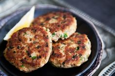 Tuna patties...yum, healthy omega 3s, and cheap. Modify as needed. I make 4 from a can of tuna  keep 3 for snacks, but you can make yours  then add chives for family. a-collection-of-gastroparesis-recipes fitness