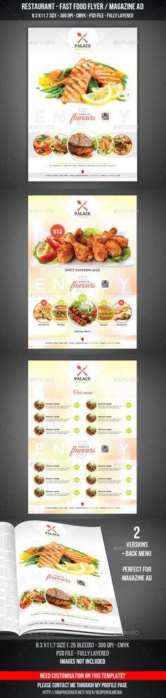 Restaurant - Fastfood Flyer / Magazine AD Template #design Download: http://graphicriver.net/item/restaurant-fastfood-flyer-magazine-ad/11212478?ref=ksioks