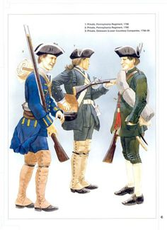 British American colonial troops during the Seven Year War.