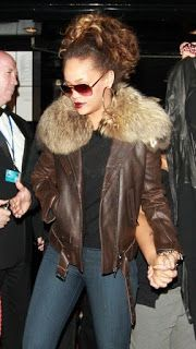 The jacket not only keeps you warm but has a very eye catching look and will make you stand out of the crowd. Buy Movie Jackets & fjakcets offers a Rihanna Brown Leather Jacket at reasonable price.  Buy It Now Online: at #fashionmoviejackets #Rihanna #Rihannaoutfit #BrownJacket #RihannaJacket
