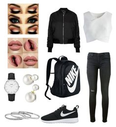 """""""Nike✔️❤️"""" by carina279 on Polyvore featuring Mode, NIKE, Hudson, Chicwish, Topshop, CLUSE und Allurez"""