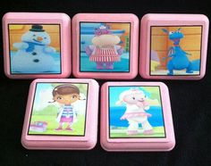 Doc McStuffins Wall Plaques Lambie Stuffy Chilly by Madkatz73, $24.95