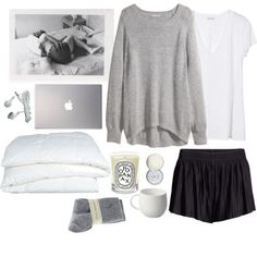 A fashion look from October 2013 featuring plus size sweaters, white tee and hot shorts. Browse and shop related looks.