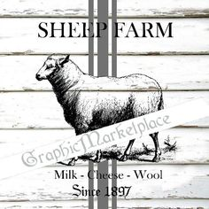Sheep Farm Grain Sack Instant Download by GraphicMarketplace, $1.00