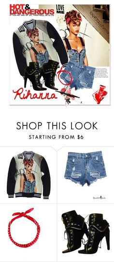 """""""Rihanna"""" by siemprebellaquieroestar ❤ liked on Polyvore featuring Anja, Alexander Wang and Chanel"""