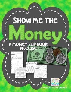 Money Flip Book Freebie! {Show Me The Money} Math for Kindergarten and First Grade