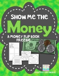 Money Flip Book Freebie! {Show Me The Money} Math for Kindergarten and First Grade