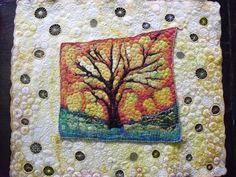 Machine embroidered pillow quilt