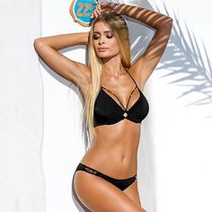 ea4d7d3d7de63 Bikini Swimwear Women Bandage Bikini Sets Push Up Bra Swimsuit Bathing Suit  Brazilian Biqui Black Swimming Suit