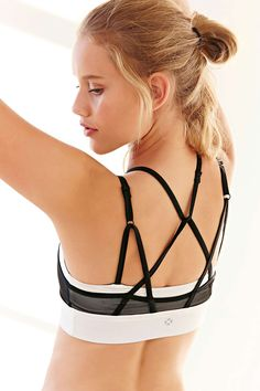 Without Walls Mesh Halter Sports Bra