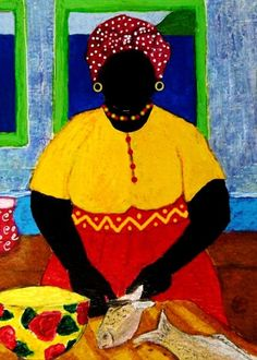 Gullah_Art_Tessa_Edwards 16 Pieces of Gullah Art to Add Your Gallery Wall African Quilts, Afrique Art, Caribbean Art, African American Artist, Black Artwork, Tropical Art, Afro Art, Black Artists, Black Women Art